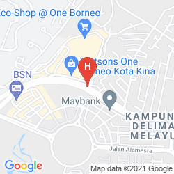 Mappa 1 BORNEO TOWER B SERVICE APARTMENT