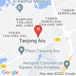 Mappa MEGAH D'ARU HOTEL