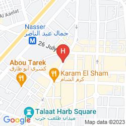 Mappa BLUE BIRD HOTEL CAIRO