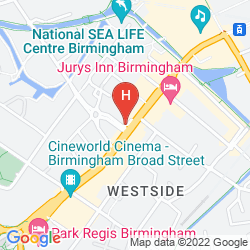 Mappa NOVOTEL BIRMINGHAM CENTRE