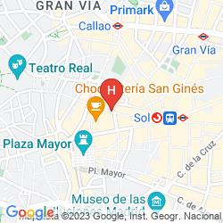 Mappa TOC HOSTEL MADRID