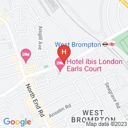 Mappa IBIS LONDON EARLS COURT