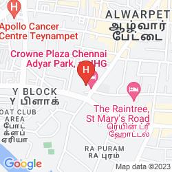 Mappa CROWNE PLAZA CHENNAI ADYAR PARK