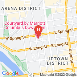Mappa COURTYARD COLUMBUS DOWNTOWN