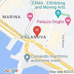 Mappa SATURNO HOUSE CAGLIARI CENTER
