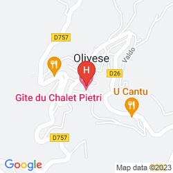 Mappa LE GÎTE DU CHALET PIETRI