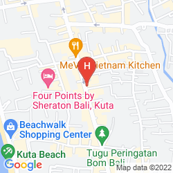 Mappa FASHION HOTEL LEGIAN
