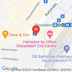 Mappa INTERCITYHOTEL DUSSELDORF