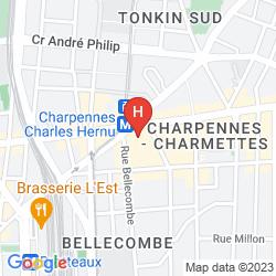 Mappa MERCURE LYON CHARPENNES