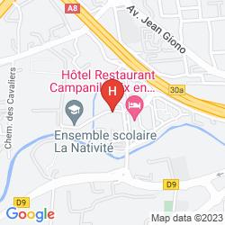 Mappa CAMPANILE AIX EN PROVENCE SUD - PONT DE L'ARC