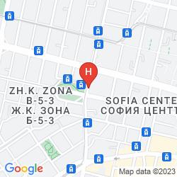 Mappa CENTRAL HOTEL SOFIA
