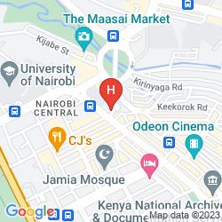 Mappa THE CLARION HOTEL NAIROBI