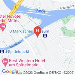 Mappa ART'OTEL BERLIN-MITTE, BY PARK PLAZA