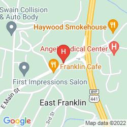 Mappa RODEWAY INN FRANKLIN