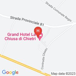 Mappa GRAND HOTEL LA CHIUSA DI CHIETRI