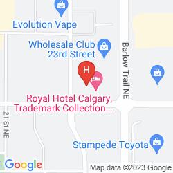 Mappa EXECUTIVE ROYAL HOTEL CALGARY
