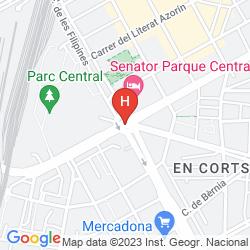 Mappa SENATOR PARQUE CENTRAL