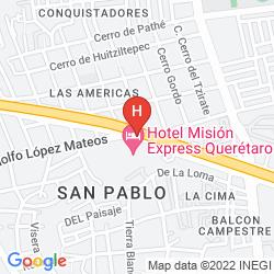 Mappa MISION EXPRESS QUERETARO