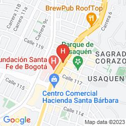 Mappa HAMPTON BY HILTON BOGOTÁ - USAQUÉN