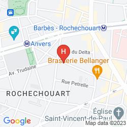 Mappa VINTAGE HOSTEL GARE DU NORD