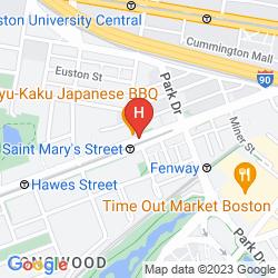 Mappa HOLIDAY INN BOSTON-BROOKLINE