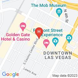 Mappa FOUR QUEENS HOTEL & CASINO