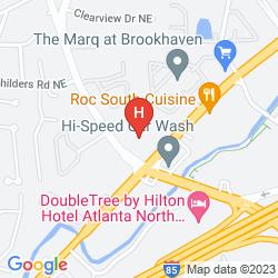 Mappa RED ROOF INN PLUS ATLANTA - BUCKHEAD