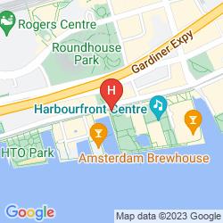 Mappa RADISSON HOTEL ADMIRAL TORONTO-HARBOURFRONT