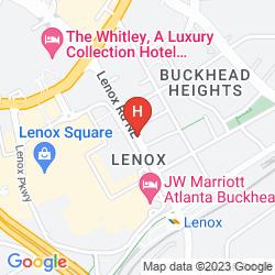 Mappa BUCKHEAD HOTEL ATLANTA