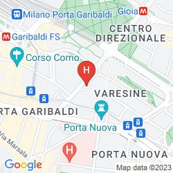 Mappa NH COLLECTION MILANO PORTA NUOVA
