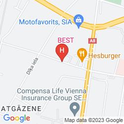 Mappa BEST HOTEL RIGA