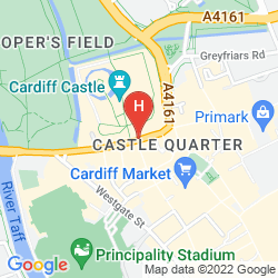 Mappa HOLIDAY INN CARDIFF CITY CENTRE