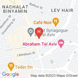 Mappa TOWNHOUSE TEL AVIV