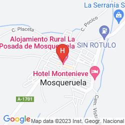 Mappa RUSTICAE LA POSADA DE MOSQUERUELA