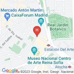 Mappa PASEO DEL ARTE