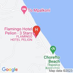 Mappa FLAMINGO HOTEL PELION