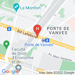 Mappa NOVOTEL SUITES PARIS EXPO PORTE DE VERSAILLES