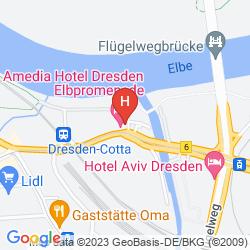 Mappa AMEDIA HOTEL DRESDEN ELBPROMENADE