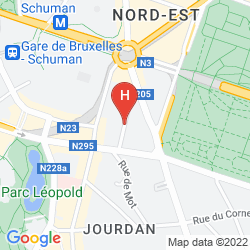 Mappa HOLIDAY INN BRUSSELS-SCHUMAN