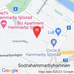 Mappa BIZ APARTMENT HAMMARBY SJOSTAD