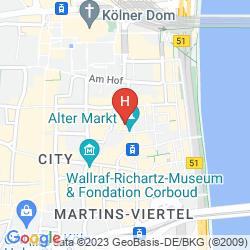 Mappa CITYCLASS HOTEL RESIDENCE AM DOM