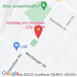 Mappa HOLIDAY INN DRESDEN - CITY SOUTH