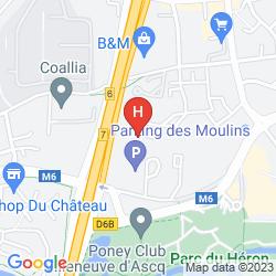 Mappa KYRIAD LILLE EST - VILLENEUVE D'ASCQ