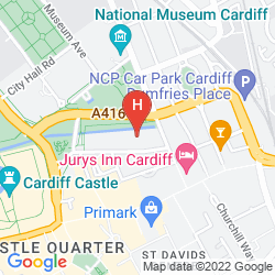 Mappa PARK PLAZA CARDIFF