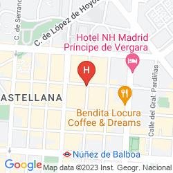 Mappa NH MADRID BALBOA