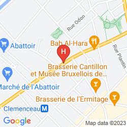 Mappa SLINA HOTEL BRUSSELS