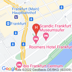 Mappa LE MÉRIDIEN FRANKFURT