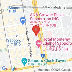 Mappa ANA CROWNE PLAZA SAPPORO