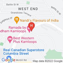 Mappa RAMADA INN KAMLOOPS