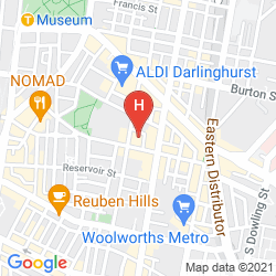 Mappa CAMBRIDGE HOTEL SYDNEY